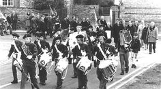 The Pathfinders First Public Parade - November 1978 - turning into Churchill Way from the High Street, leading the town's Remembrance Day Parade on its first public appearance