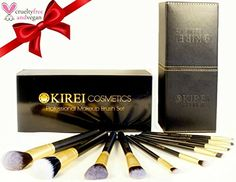 [FLASH SALE!] Best Professional Makeup Brush Set with Designer Luxury Case - Cruelty Free, Vegan, Synthetic - 10 Pieces - Stippling, Foundation, Eyeshadow, Eyebrow Brush - Great Gift! *** Click on the image for additional details.