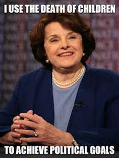 Diane Feinstein is ghoulish. A cross between Helen Thomas and Mr. Burns.