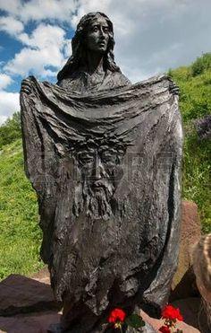 santa veronica: Chelm, Poland - June Saint Veronica with the… Verona, St Veronica, Sacred Art, Byzantine, Jerusalem, Storyboard, Poland, Garden Sculpture, Pray