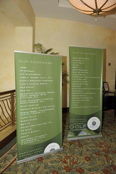 Brickell Motors Golf Tournament Standing Banner