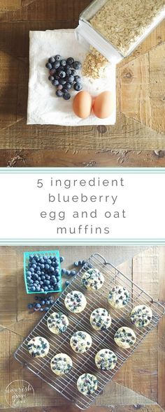 theyre the healthiest blueberry muffin youll ever eat. in fact i discovered these little gems while i was cutting weight for my very first fitness competition {needless to say i took a break from them for a while, but they are still one of my favorite g Blueberry Oatmeal Muffins, Oat Muffins, Healthy Muffins, Blue Berry Muffins, Healthy Treats, Healthy Eating, Protein Muffins, Healthy Food, Cooking With Coconut Oil