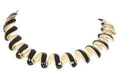 1980s Anne Klein Squiggle Necklace 80s Jewelry, Anne Klein, 1980s