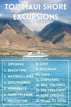 On a cruise ship going through Hawaii? Here are 15 ways to relish Maui's beauty—and why you should book ahead to hop on one of these Maui shore excursions. Ncl Hawaii Cruise, Bahamas Vacation, Jamaica Honeymoon, Hawaii 2017, Hawaii Life, Honeymoon Ideas, Maui Hawaii, Shore Excursions, Cruises