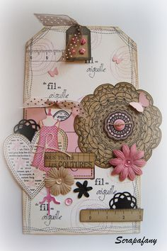 beautiful Tag by Scrapfany, tampons Florilèges Design