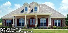Acadian House Plan With Bonus Room - 86219HH | Acadian, European, French Country, Photo Gallery, 1st Floor Master Suite, Bonus Room, CAD Available, PDF, Corner Lot | Architectural Designs