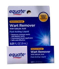 Equate Wart Remover With Salicylic Acid oz Max Strength: Fast-acting liquid Removes common warts and plantar warts Convenient brush applicator Safe and effective Best Essential Oil Diffuser, Best Essential Oils, Acid Fast, Warts On Face, Salicylic Acid, Active Ingredient, Skin Care Tips, Health And Beauty