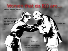 Women that do BJJ...   posted this blank picture on my Facebook page.  Here are some of the answers that people came up with.