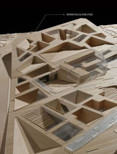 Model of the Asian Culture Complex proposed for Gwangju, South Korea by UnSangDong Architects and Kim Woo Il