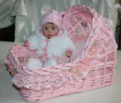 "cradle, crib, bassinet ,OOAK baby,for 8"""