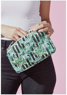 Large makeup bag by Tickled Pink. Size: x polyester Summer Bags, Spring Summer, Large Makeup Bag, Pink, How To Make, Gifts, Travel, Presents, Viajes