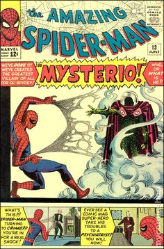 Amazing Spider-Man # 13 , June 1964 , Marvel Comics Vol 1 1963 Marvel Comics, Marvel E Dc, Marvel Comic Books, Comic Book Heroes, Comic Books Art, Comic Art, Marvel Villains, Marvel Characters, Amazing Spiderman