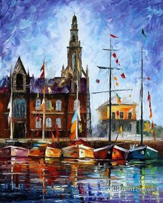 Leonid Afremov Antwerp   Belgium oil painting reproductions for sale