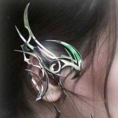 Piskel Art, Piercings, Arte Cyberpunk, Fantasy Jewelry, Retro Futurism, Art Inspo, Jewelery, Ear Jewelry, Couture