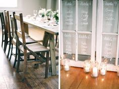 wedding ideas, love using the vintage windows for the seating  arrangements. via:modern wedding/ walking on sunshine:)