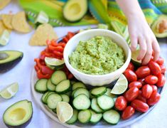 This Easy 4-Ingredient Guacamole is so simple and tastes amazing. The perfect healthy dip, it's naturally gluten-free and dairy-free.