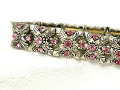 Vintage Victorian revival Bracelet Stretch Silver by JewlsinBloom