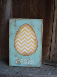Easter Wood Sign. $8.00, via Etsy.