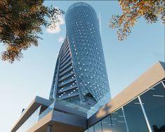 SPIRAL | TOWER  A shot of the ADR tower app.  #render #archviz #design #dynamic #modern #architecture #arquitectura #moderna #torre #tower #skycraper #dawn #3d #art #cgi #unity3d #interactive #app #4k #vr