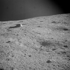 The Moon, February 6, 1971, photo by Apollo 14 astronaut Alan Bean. (NASA)
