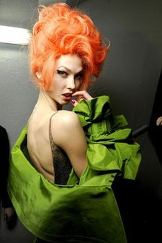 I always tell people with the right attitude you can pull anything off... Love the sultry orange hair!