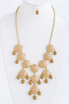 Nude Bubble Necklace Set on Emma Stine Limited