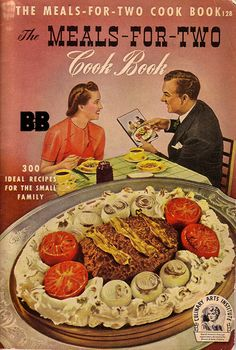 I love household guides from this era. Especially house wife guides, there are some treasures out there! Plus the guy on the cover is holding the book... infinite cook book cover.