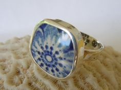 Broken China Ring Chaney Ring  Sterling Silver by MaroonedJewelry, $35.00