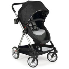Contours Bliss 4-in-1 Stroller Black Contours ($53) ❤ liked on Polyvore featuring baby stuff