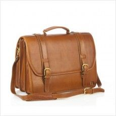 Plain JTPL100 Brown File and Laptop Bag - Jeanz T