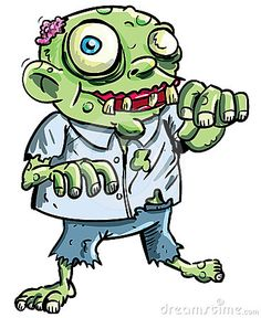 Illustration about Cute green cartoon zombie. Isolated on white. Illustration of cute, color, small - 24441663 Zombie Drawings, Halloween Drawings, Halloween Pictures, Cartoon Drawings, Anime Zombie, Zombie Cartoon, Cute Zombie, Zombie Party, Cartoon Images