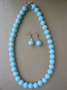 Cool mint necklace with matching earrings, my latest giveaway on my facebook business page...  http://www.eyekandyjewellery.com