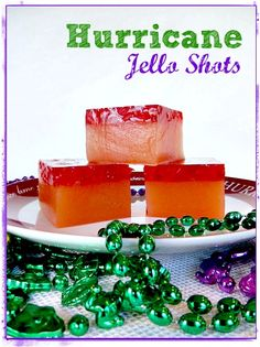 Let's get ready for Mardis Gras with these Hurricane Jello Shots! #MardiGras
