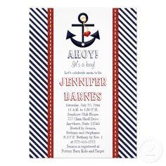 Anchor Nautical Baby Shower Invitations.  $2.70