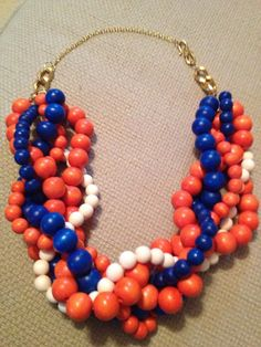 UF Statement Necklace, University of Florida Team Colors on Etsy, $29.97