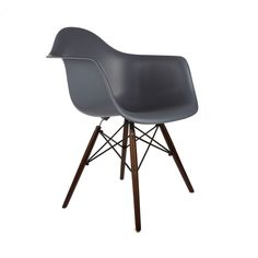 Edgemod Vortex Walnut Wood Leg Dining Arm Chairs (Set of 2)