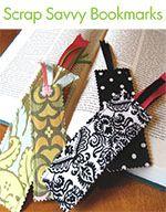 fabric bookmarks (using scraps)