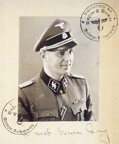 Sturmbannführer Erwin Oskar Ding-Schuler, MD, was camp physician at Buchenwald and head of the division for spotted fever and viral research of the Waffen-SS Hygiene Institute in Weimar-Buchenwald. He conducted extensive medical experiments, on some 1,000 inmates, many of whom lost their lives, using various poisons as well as infective agents for spotted fever, yellow fever, smallpox, typhus, and cholera. He was arrested by U.S. troops on 25 April 1945 and committed suicide on 11 August…