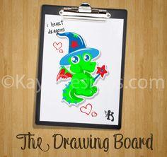 The Drawing Board - #Cute #Baby #Dragon - kaytidesigns.com