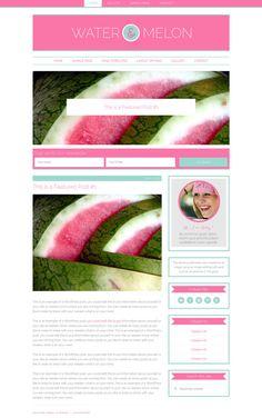Responsive Wordpress Theme Genesis Blog Water Melon by Mindflight