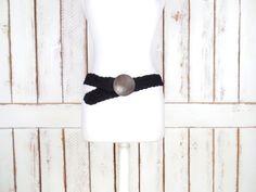 Woven black suede leather medallion boho/hippie belt/Huarache wide braided belt/Indian belt by GreenCanyonTradingCo on Etsy