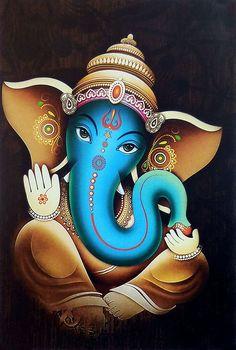 Lord Vinayak - Hindu Posters (Reprint on Paper - Unframed) Ganesha Drawing, Lord Ganesha Paintings, Lord Shiva Painting, Buddha Painting, Ganesha Art, Krishna Painting, Shiva Art, Krishna Art, Hindu Art