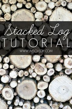 DO THIS FOR THE FIREPLACE INSIDE Faux Stacked Log Fireplace Tutorial | LiveLoveDIY