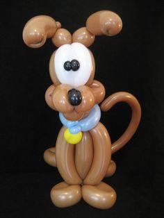 Scooby Doo Twist Balloon - long apple twist ears and a 180 tail
