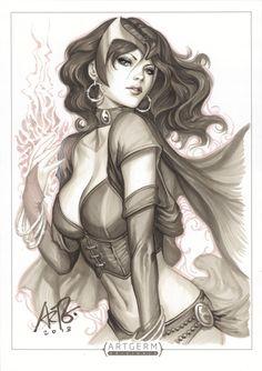 Scarlet Witch Original 1 by Artgerm on DeviantArt