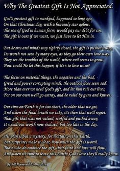 Why the greatest gift is not appreciated Christmas Prayer, Christmas Service, Christmas Blessings, Christmas Quotes, Christmas Program, Christmas Greetings, Religious Quotes, Spiritual Quotes, Christian Poems