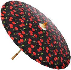The Violet Vixen - Cherry Pop Sun Parasol, $28.00 (http://thevioletvixen.com/accessories/parasols/cherry-pop-sun-parasol/)