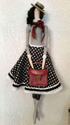Купить Барышня с книгой - тильда кукла, дама в шляпе, барышня с книгой, оригинальный подарок