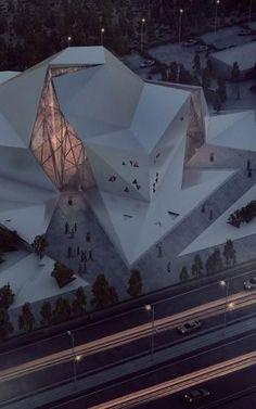 Architecture Pliage, Folding Architecture, Futuristic Architecture, Amazing Architecture, Contemporary Architecture, Art And Architecture, Blender Architecture, Chinese Architecture, Contemporary Design