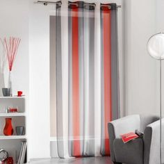 Rideaux voilages etc on pinterest tassels sheer curtains and curtains - Voilage organza blanc ...